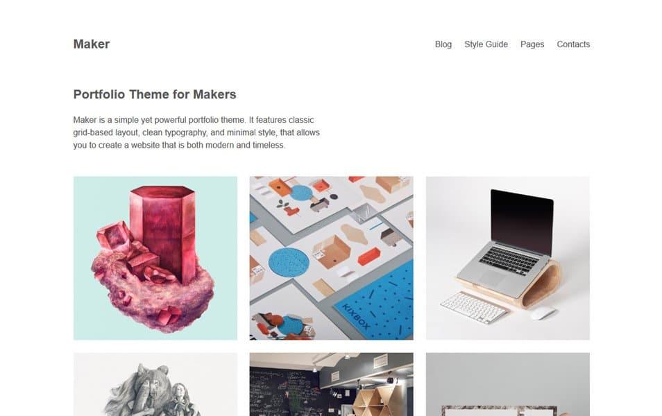 Maker Responsive WordPress Theme