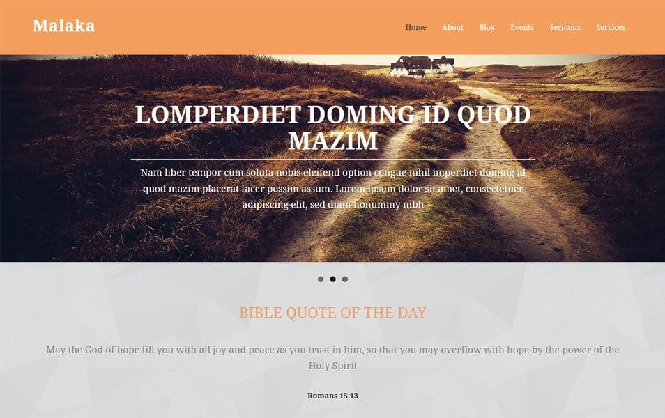 Malaka Responsive WordPress theme