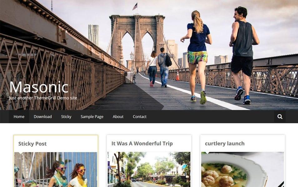 Masonic Pinterest style responsive WordPress theme