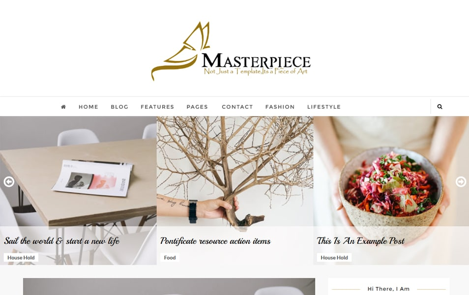 Masterpiece Responsive Blogger Template