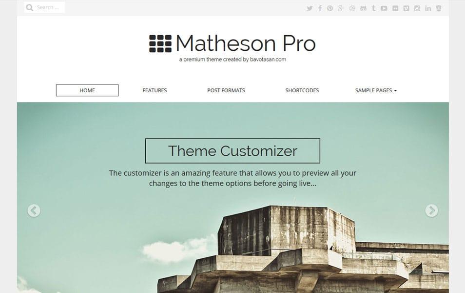 Matheson Responsive WordPress Theme