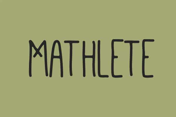 Mathlete Hand-Drawn Font
