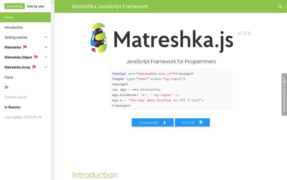 Matreshka JavaScript Framework