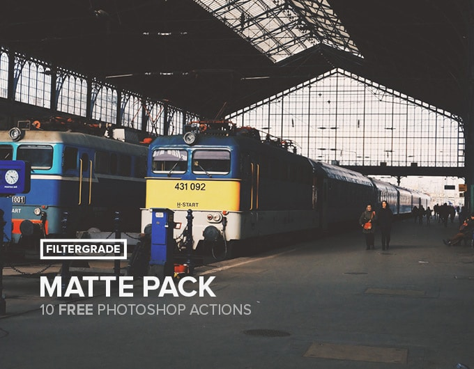 Matte - Free Photoshop Actions Pack