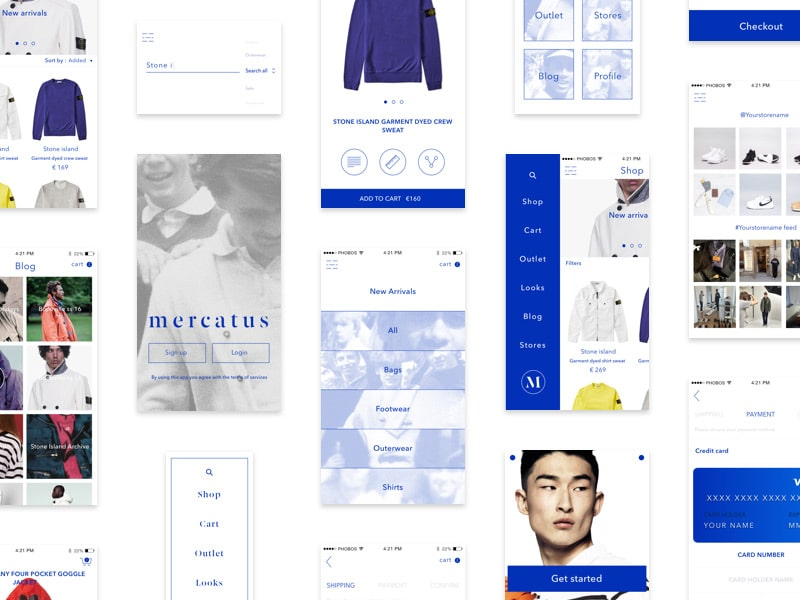 Mercatus - Free mCommerce ui kit