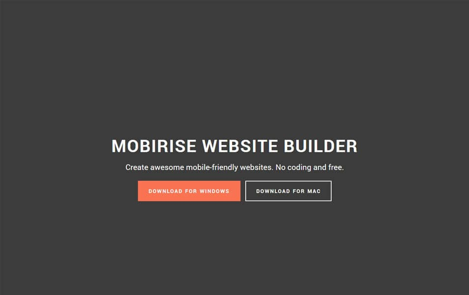 Mobirise Mobile Website Builder
