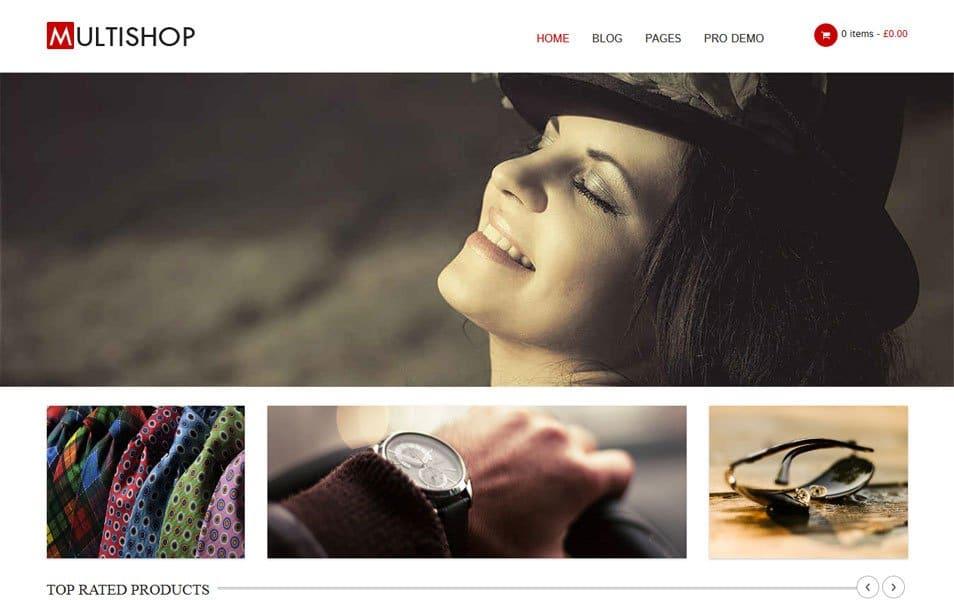 Multishop Responsive WordPress Theme