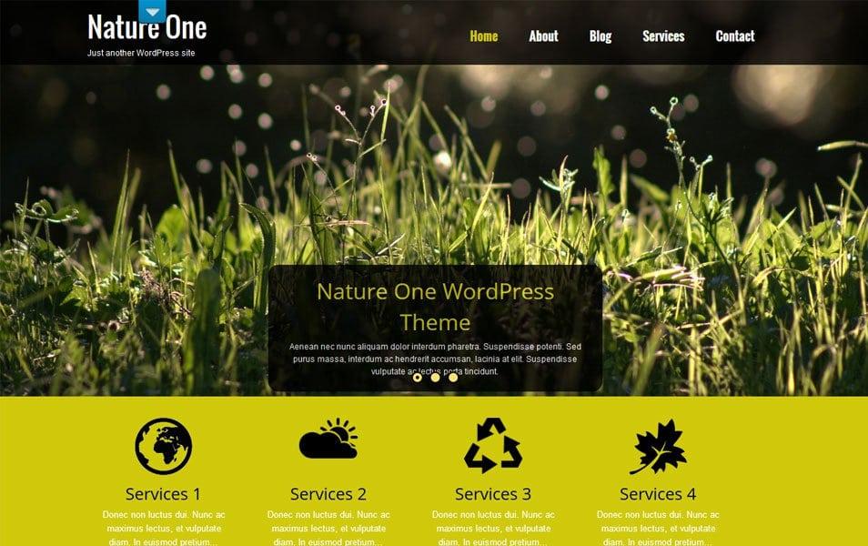 NatureOne Responsive WordPress Theme