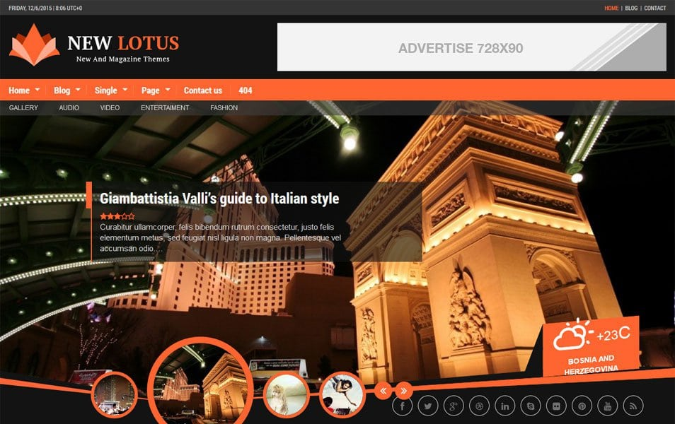 New Lotus Responsive WordPress Theme