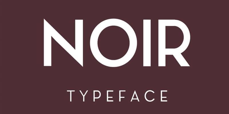 Noir Typeface