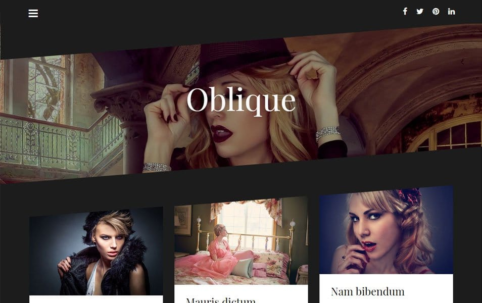 Oblique Responsive WordPress Theme