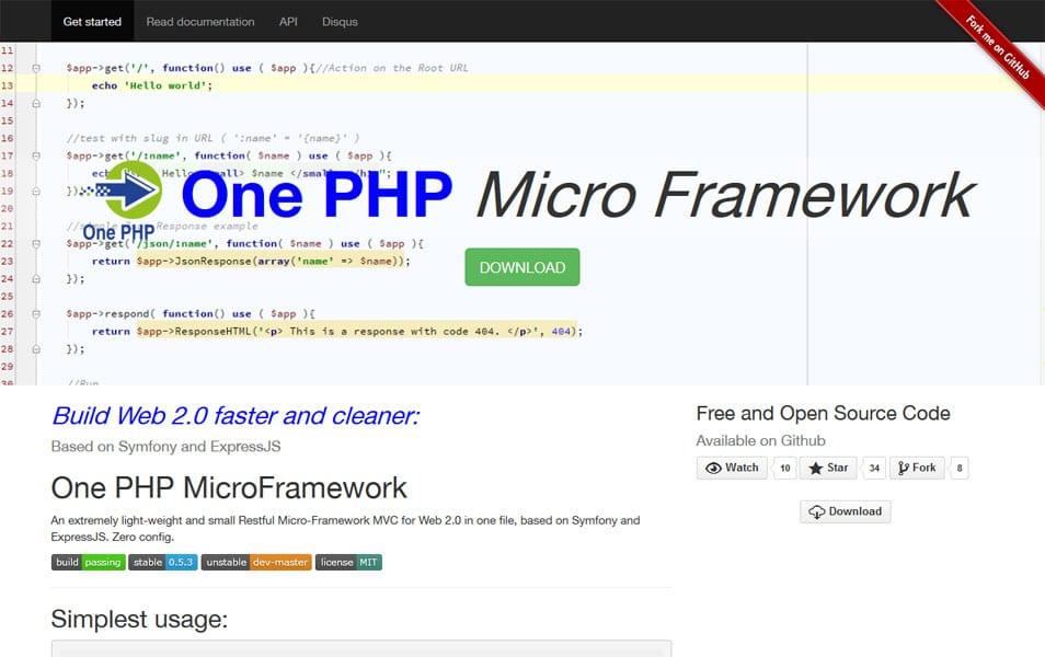 One PHP MicroFramework