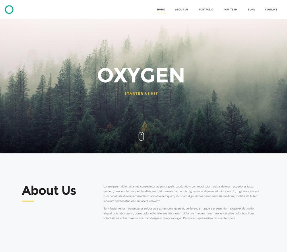 Oxygen - Free Starter UI Kit