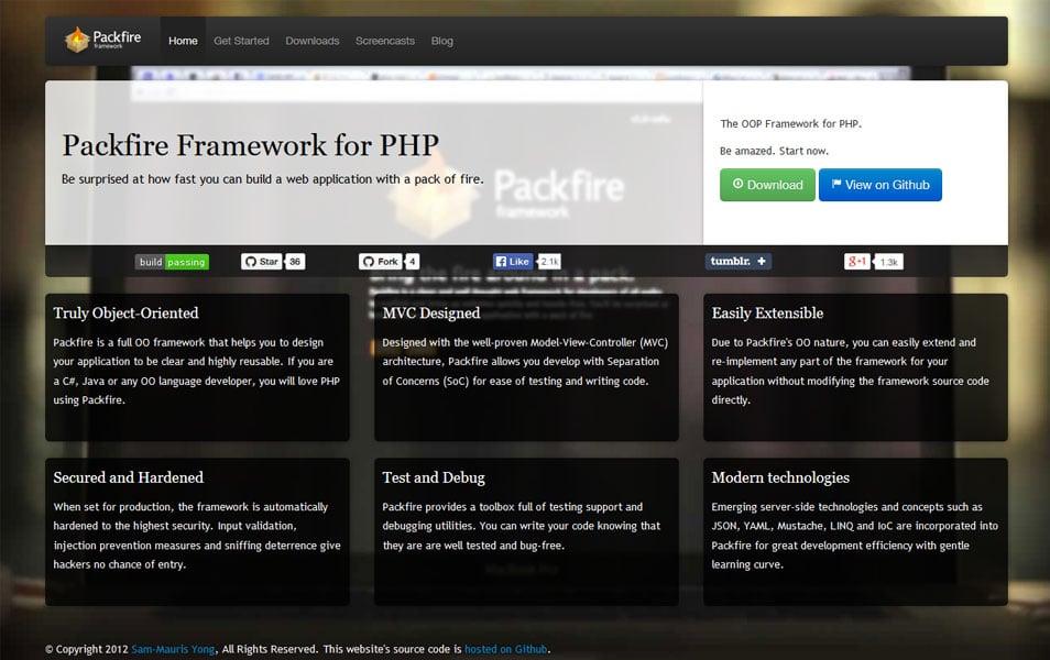 Packfire Framework