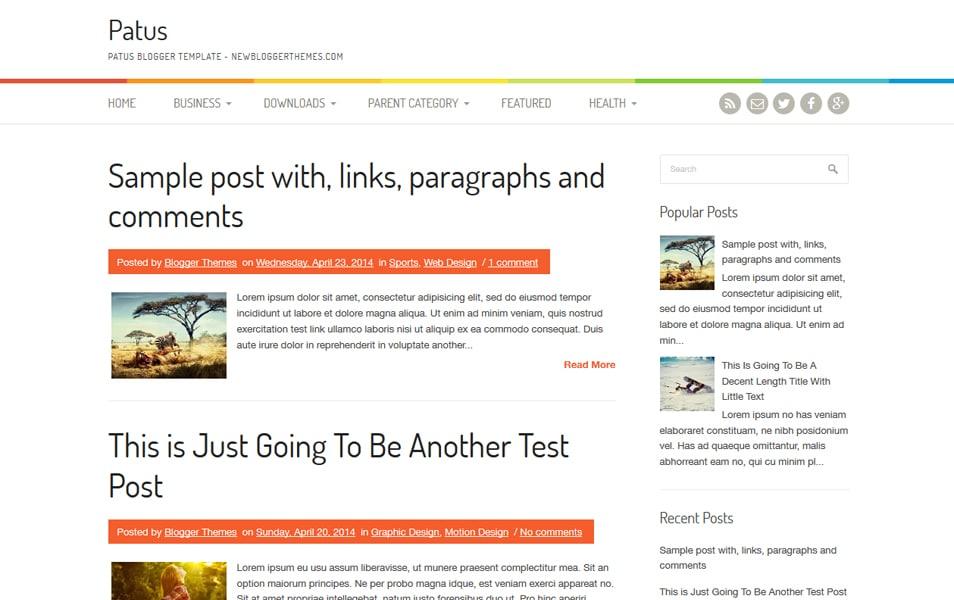 Patus Responsive Blogger Template