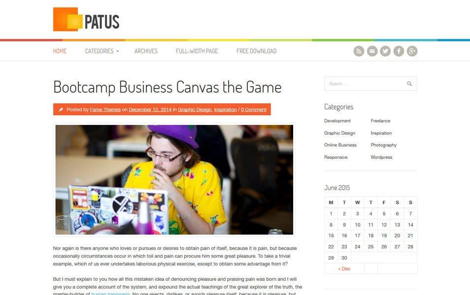 Patus Responsive WordPress Theme