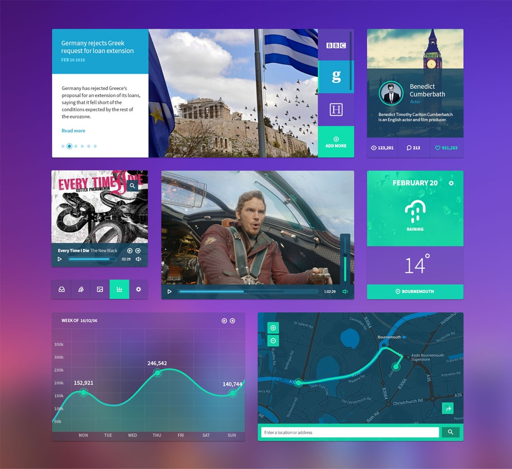Personal Dashboard UI Kit PSD