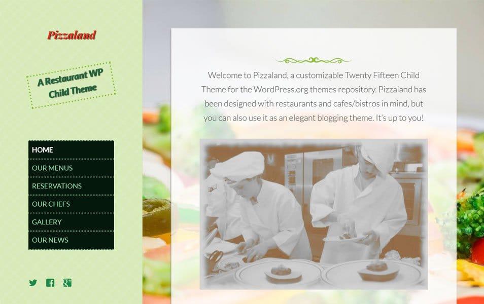 Pizzaland Responsive WordPress Theme