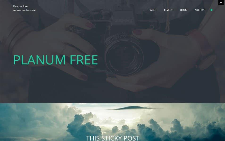 Planum Free Responsive WordPress Theme