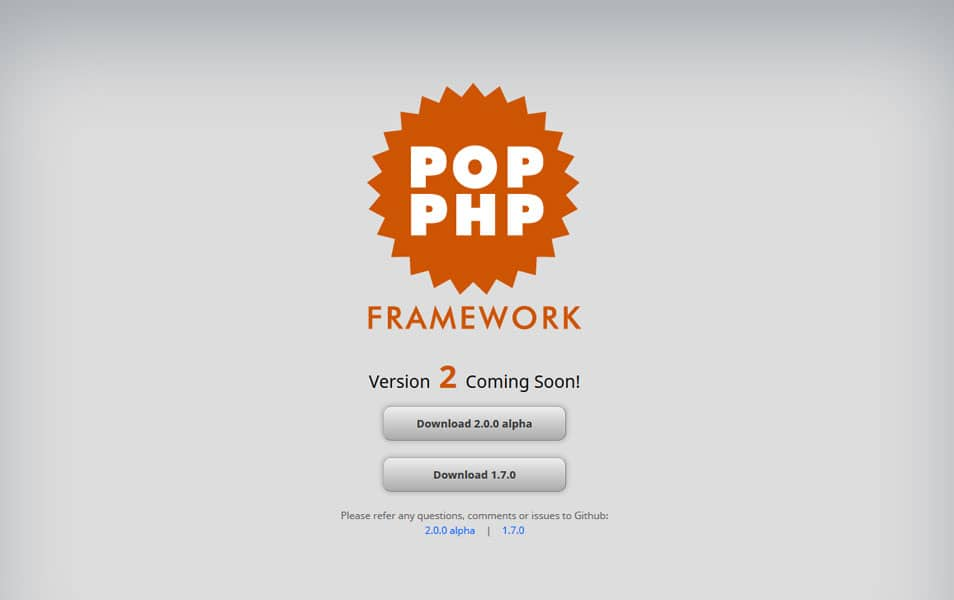 Pop PHP Framework
