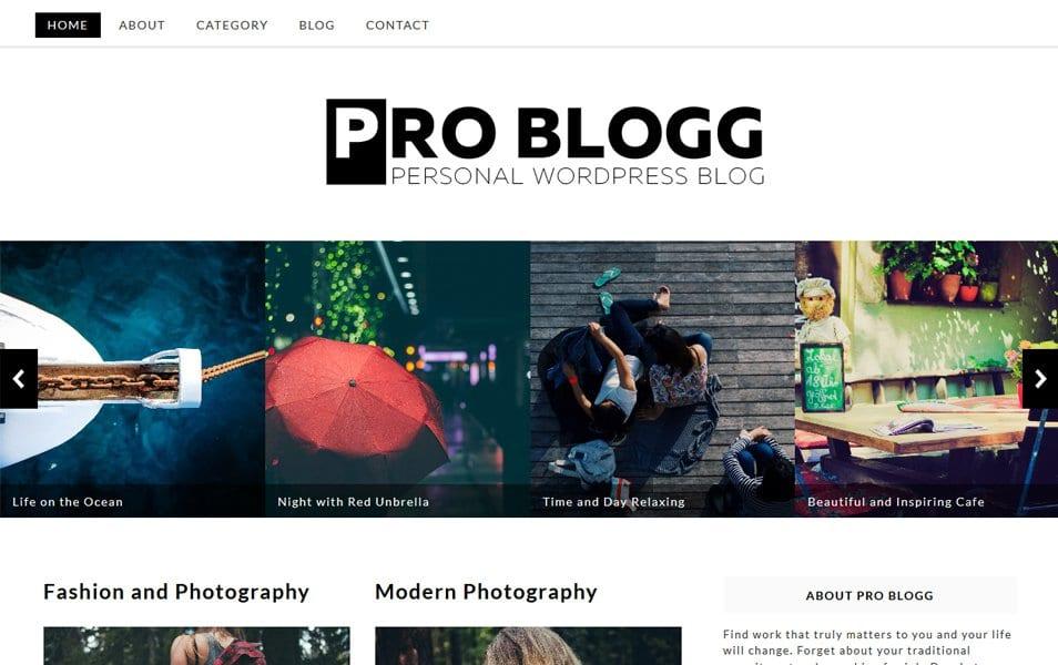 Pro Blogg Responsive WordPress Theme