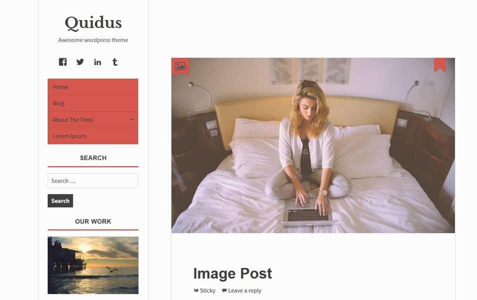 Quidus Responsive WordPress Theme