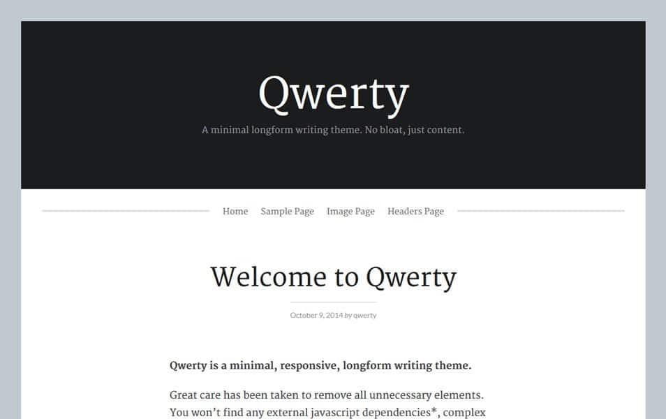 Qwerty Responsive WordPress Theme