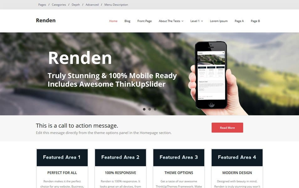 Renden Responsive WordPress Theme