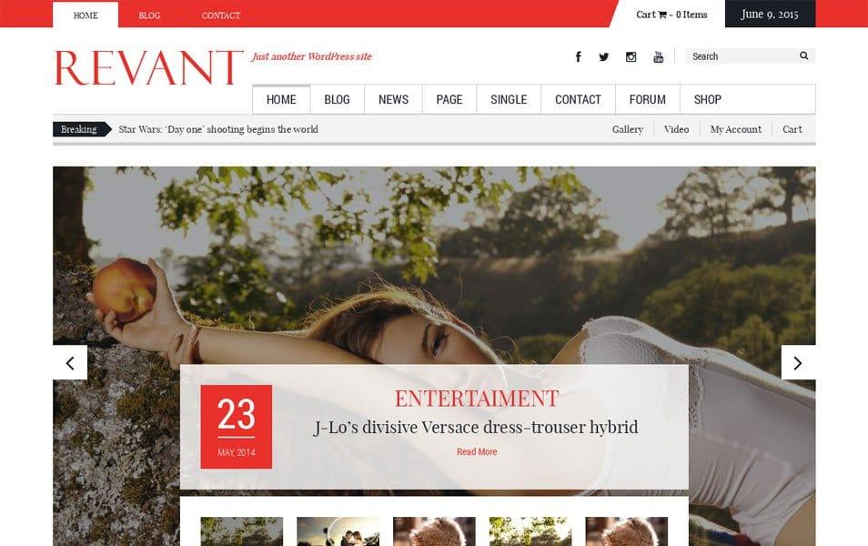 Revant Responsive WordPress Theme