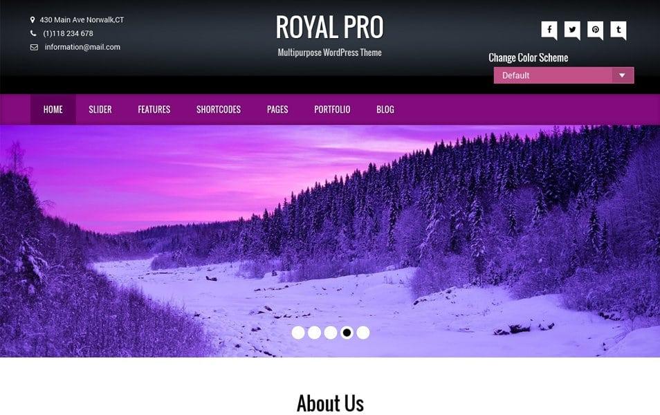 Royal Responsive WordPress Theme