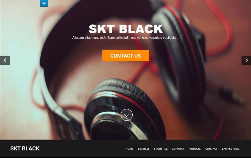 SKT Black Responsive WordPress Theme