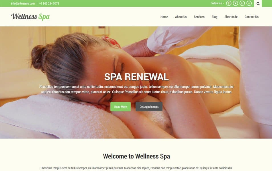 SKT Spa Responsive WordPress Theme