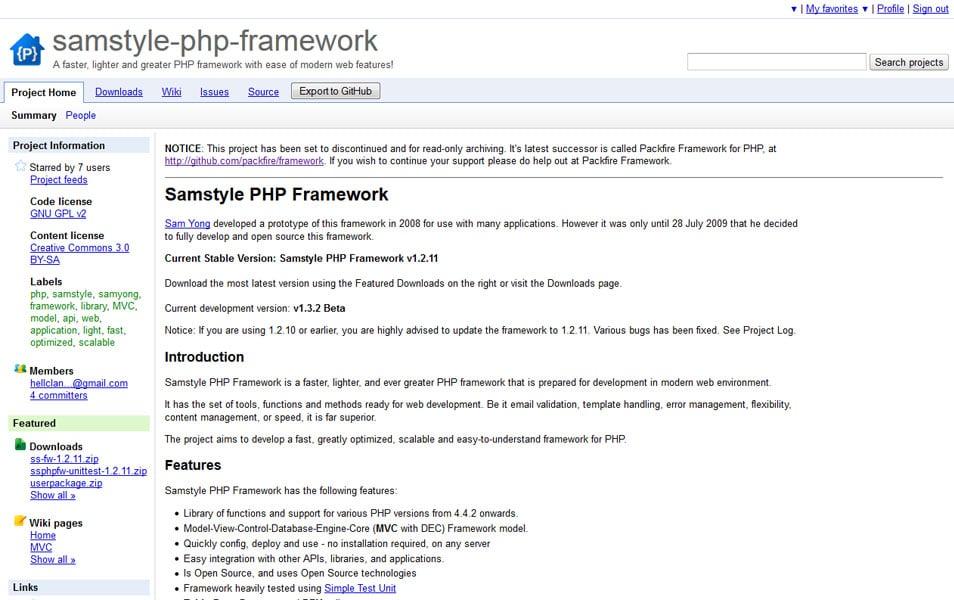 Samstyle PHP Framework
