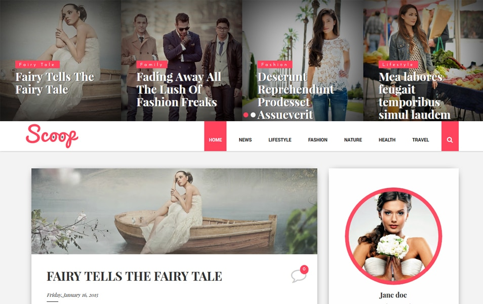 Scoop Fashion Responsive Blogger Template