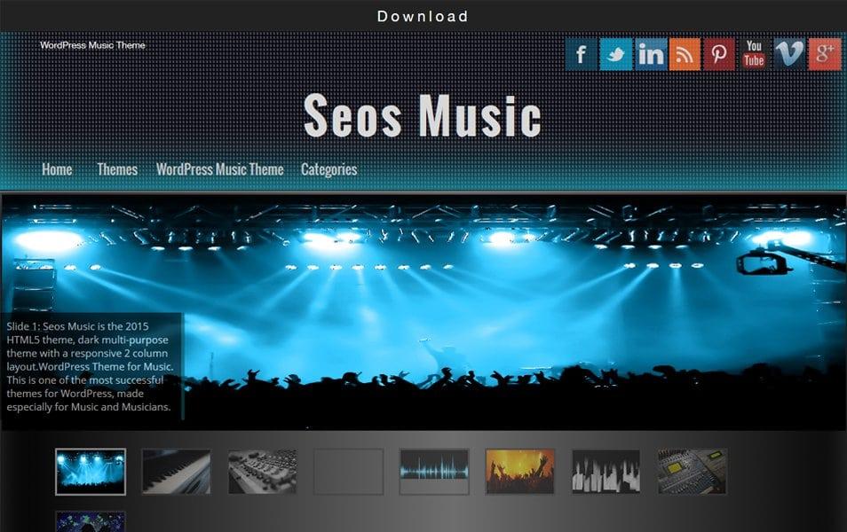 Seos Music Responsive WordPress Theme