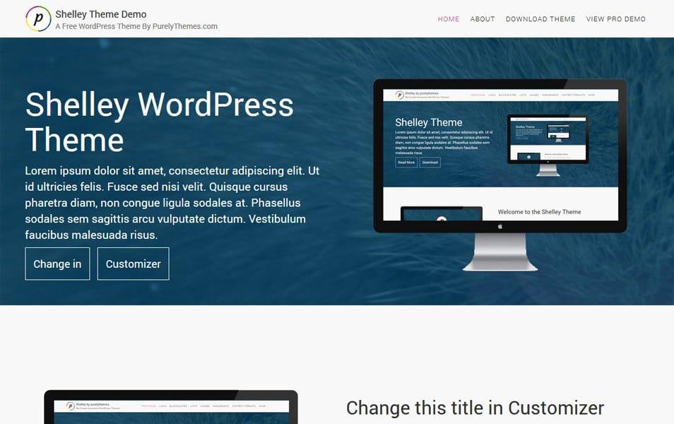 Shelley Responsive WordPress Theme