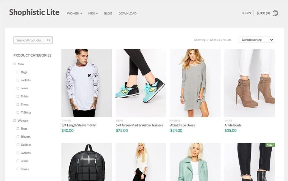 Shophistic Lite Responsive WordPress Theme