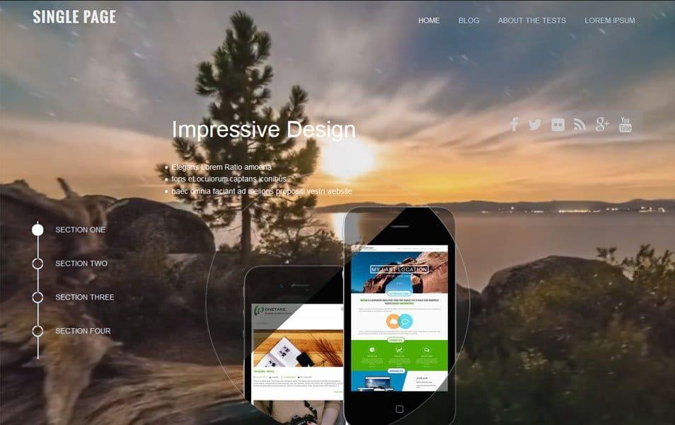 SinglePage Responsive WordPress Theme