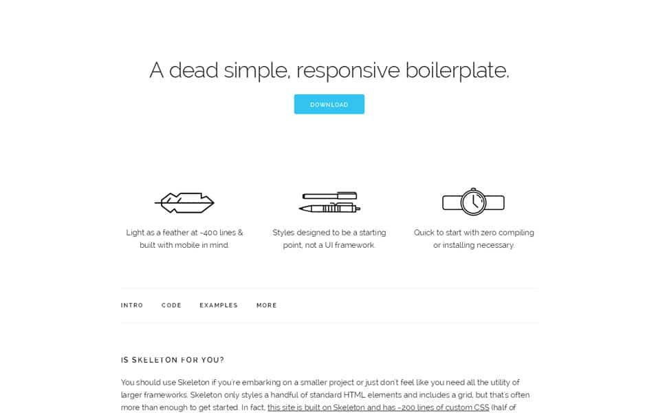 100 best css frameworks for responsive design skeleton malvernweather Gallery