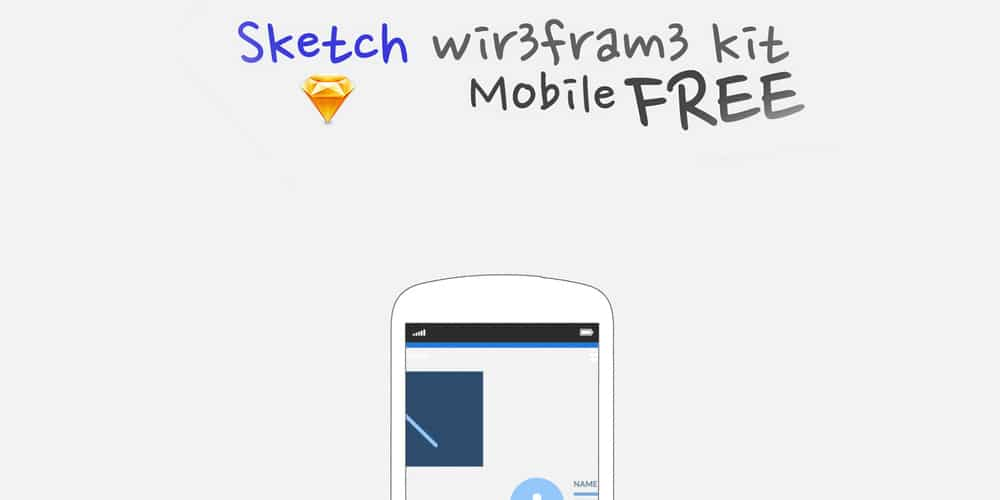 Sketch Wireframe Kit for Mobile
