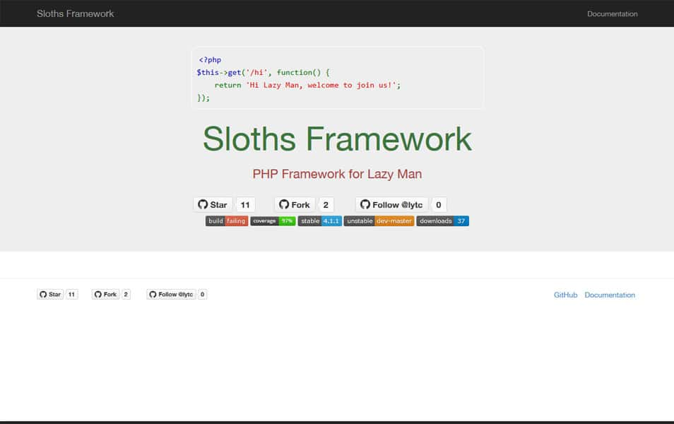 Sloths Framework