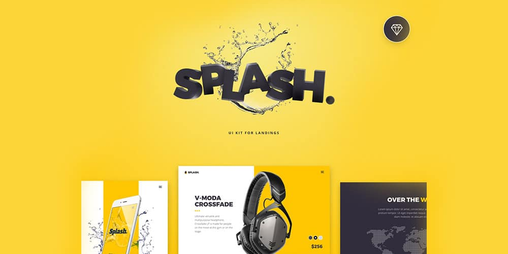 Splash UI Kit Screens
