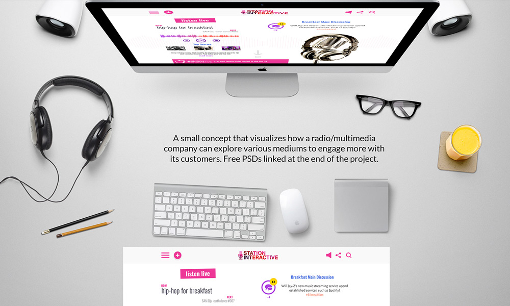 Station Interactive – Free Multimedia Web Template PSD