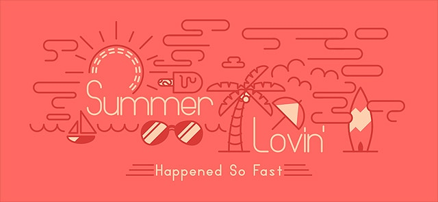Summer Inspired Stroke Art Typography