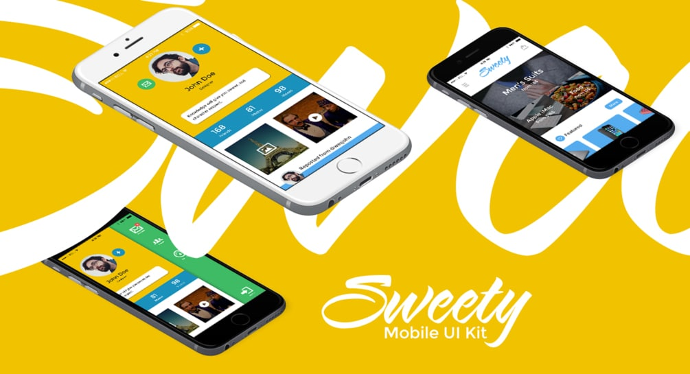 Sweety iOS UI Kit PSD
