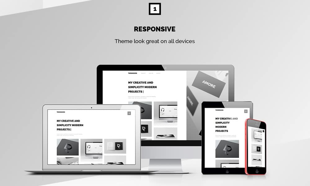 Thomsoon - Free responsive Portfolio Theme