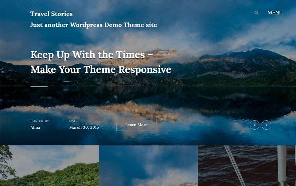 Travel Stories Responsive WordPress Theme