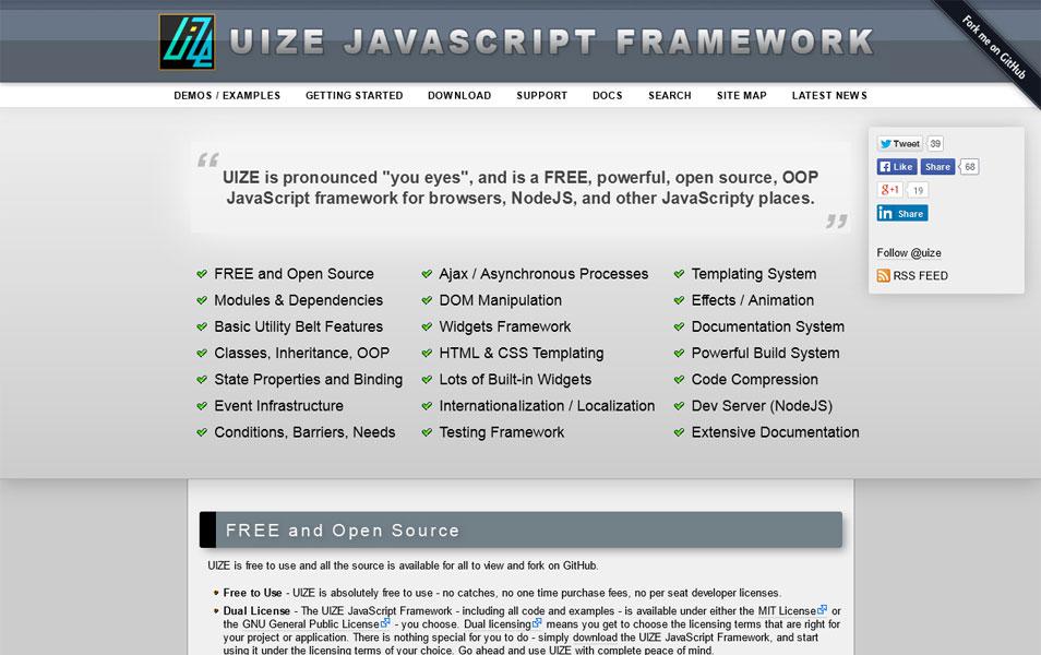 UIZE JavaScript Framework