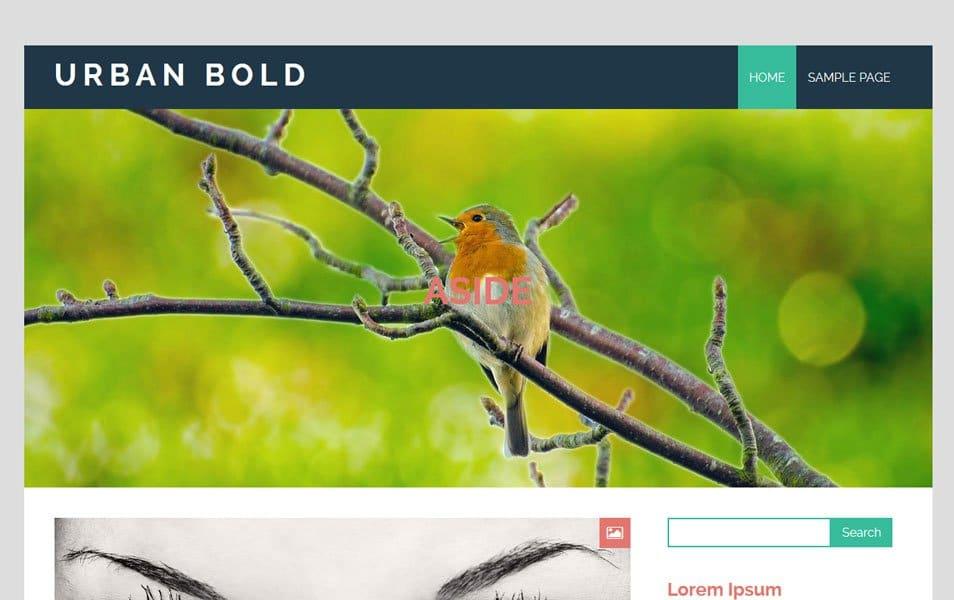 Urban Bold Responsive WordPress Theme
