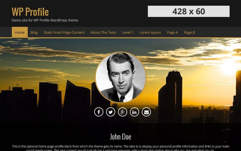 WP Profile Responsive WordPress Theme